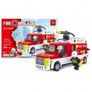 Stavebnice AUSINI hasiči dodávka, 207 dílů