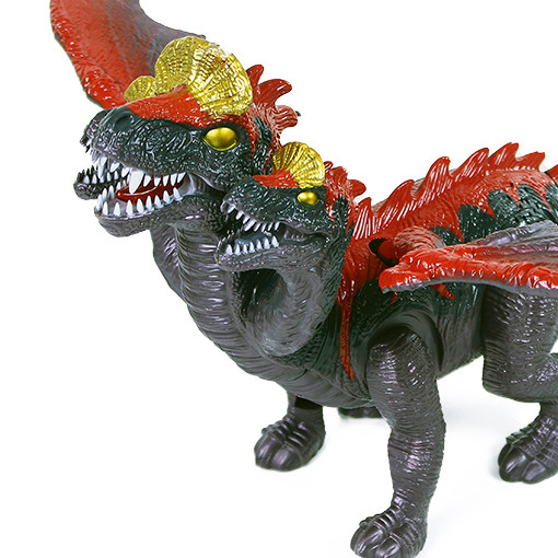 Trojhlavý chodiace drak so zvukom a svetlom