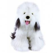 Plyšový pes ovčácký - bobtail, 30 cm