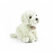 Plyšový pes labradoodle sedící, 24 cm