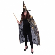 plášť + klobouk čarodějnický, dospělý
