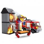 stavebnice AUSINI hasiči s domem 374 dílů