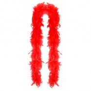 boa červené s peřím, 2 m