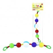 Zábrana na kočárek kuličky barevné