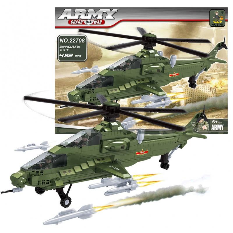 Stavebnice AUSINI armáda helikoptéra, 482 dílů