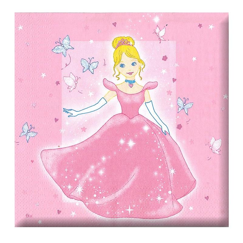 ubrousek párty - princezna,12 ks v sáčku