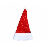 čiapky vianočné strieborné hviezdy