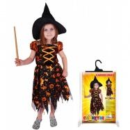 Karnevalový kostým čarodějnice/halloween s kloboukem, vel. M