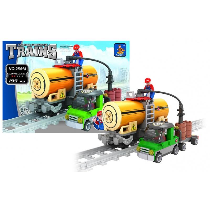 Stavebnice AUSINI vlak cisterna, 199 dílů
