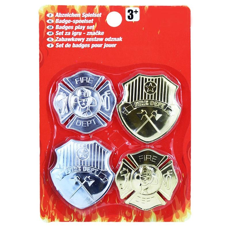 Odznak hasič, 4 ks na blistru