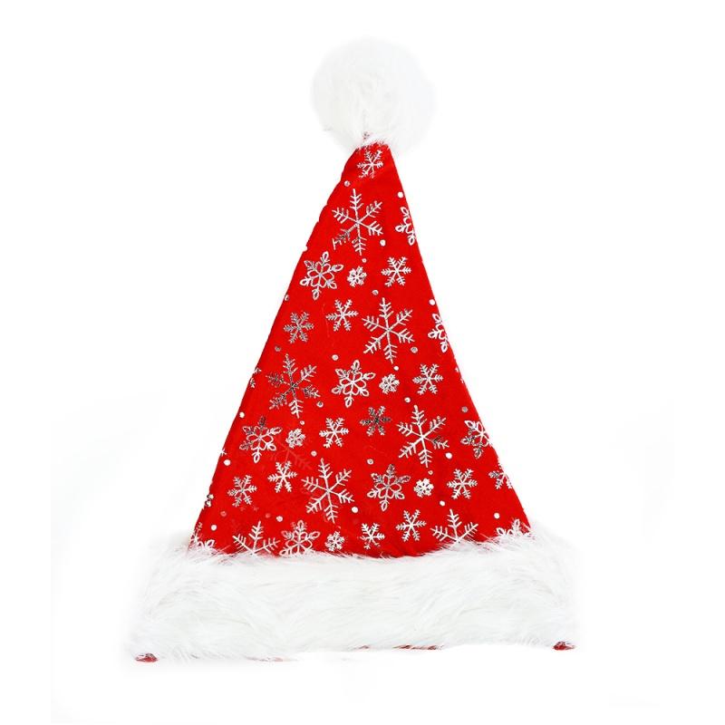23d160b3b čiapky vianočné, strieborné vločky
