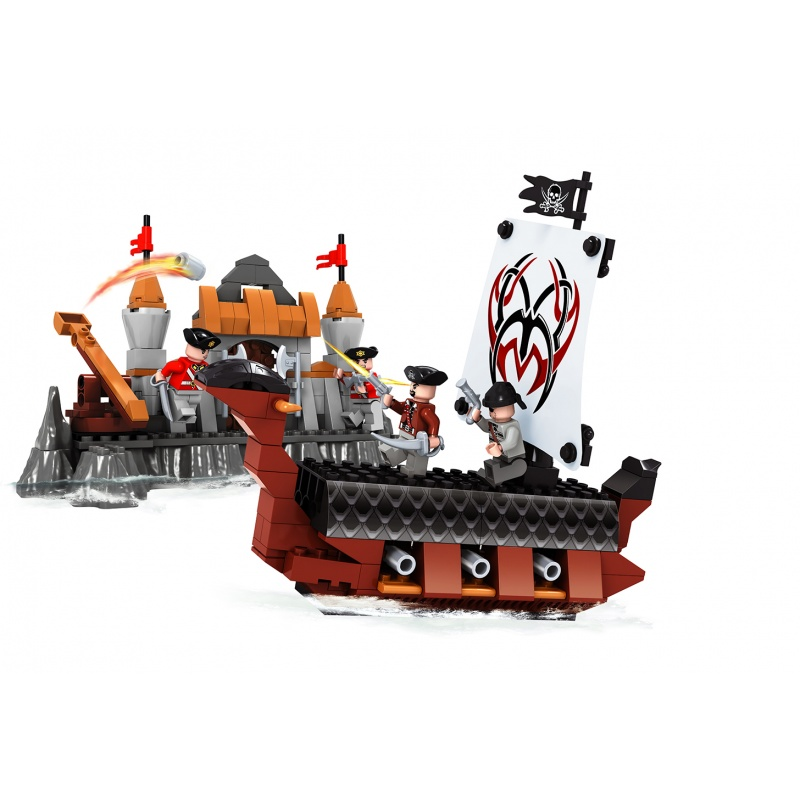 stavebnice AUSINI piráti loď 262 dílů
