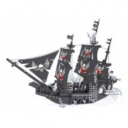 stavebnice AUSINI piráti velká loď 714 dílů