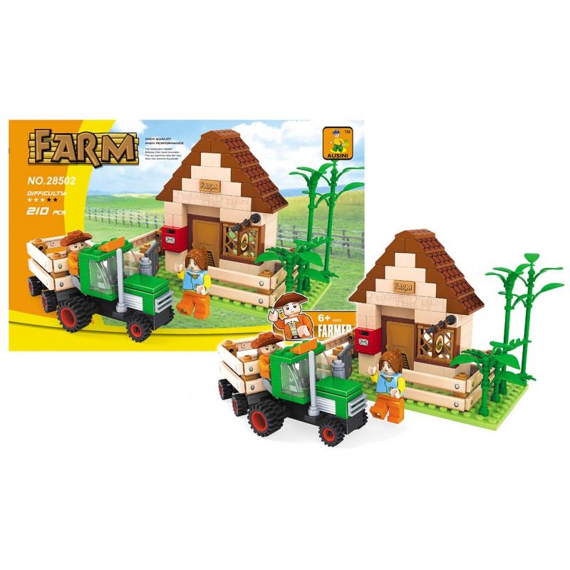 Stavebnice AUSINI farma a traktor, 210 dílů
