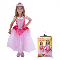 karnevalový kostým princezna růžová, vel. M