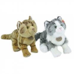 plyšová kočka stojící, 2 druhy, 28 cm