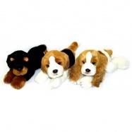 plyšový pes ležící, 3 druhy, 30 cm