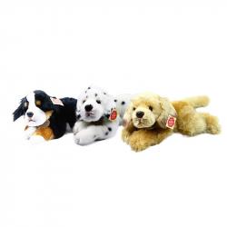 plyšový pes ležící 3 druhy, 30 cm