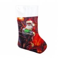 punčocha Santa Claus / Mikulášská s potiskem