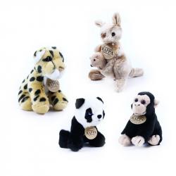 Rappa, Pluszowe egzotyczne zwierzęta 13 cm, 4 rodzaje