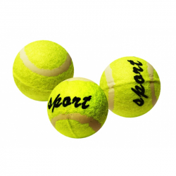 míček tenisový v sáčku, 3 ks