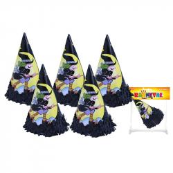 klobúk párty - čarodejnice / halloween, 6 ks v sáčku