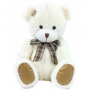 Plyšový medvěd s mašlí a záplatou, 27 cm