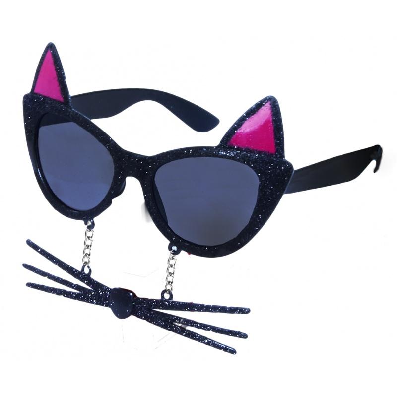 735a7947a okuliare karnevalové mačka s fúzy