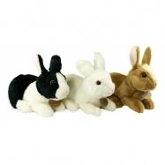 plyšový králík ležící, 3 druhy, 23 cm