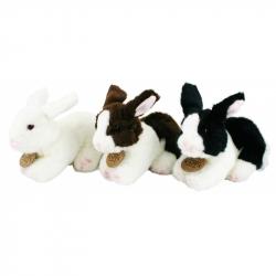 plyšový králik ležiaci, 3 druhy, 16 cm