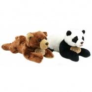 plyšový medveď / panda ležiaci, 18 cm