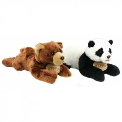 miś / panda leżąca, 18 cm