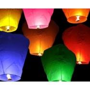 lampion štěstí, barevný