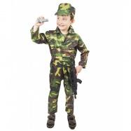 kostým ARMY - voják, dětský vel. L