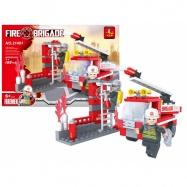 Stavebnice AUSINI hasiči sada, 133 dílů