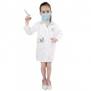 karnevalový kostým doktorka, dětská, vel. M