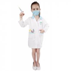 karnevalový kostým doktorka, dětská, vel. S