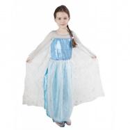 karnevalový kostým princezna Zimní království, vel. L