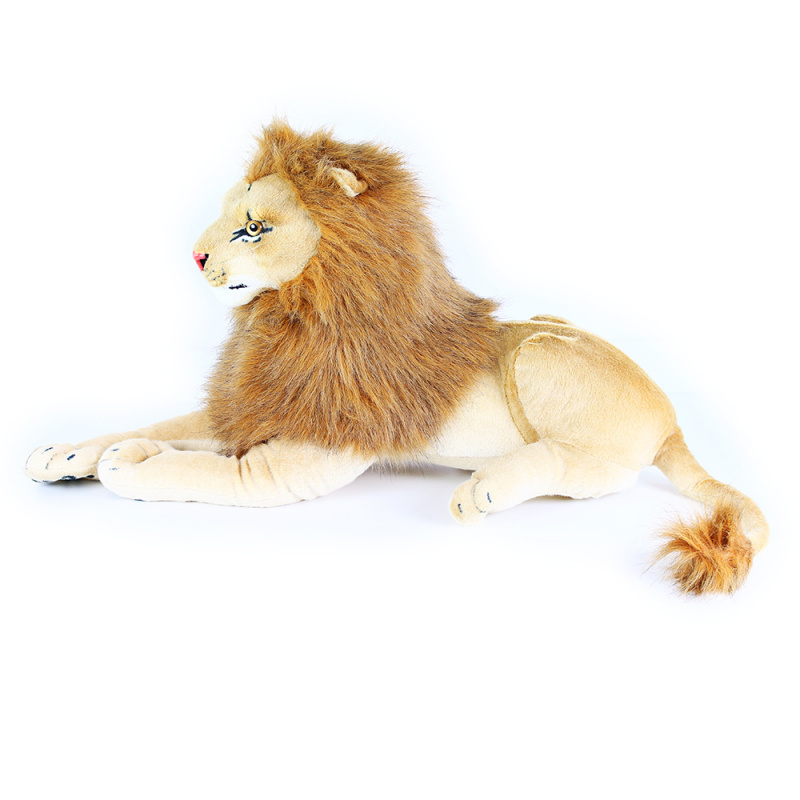 Veľký plyšový lev ležiaci 90 cm
