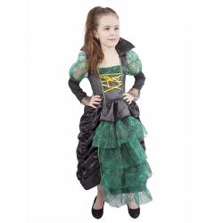 karnevalový kostým + klobúk čarodejnice / Halloween detský, vo ...