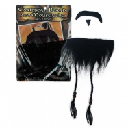 vousy pirátské s knírem a bradkou