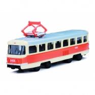 unikátní kovová tramvaj 16 cm na zpětný chod v CZ obalu