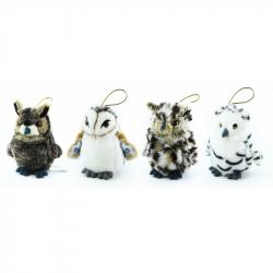 plyšová sova mini, 12 cm, 4 druhy