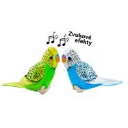 Rappa, Pluszowa papuga falista z dźwiękiem, 11 cm, 2 rodzaje