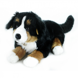 Pluszowy Berneński pies pasterski, leżący, 61 cm
