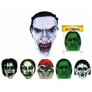 maska Halloween textilní, 4 druhy