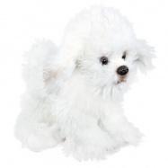 Plyšový pes bišon sedící, 26 cm