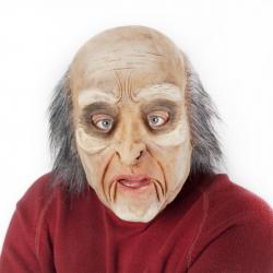 maska muž s vlasy a pohyblivou mimikou
