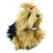 Plyšový pes jorkšír stojící, 23 cm