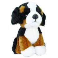 plyšový pes salašnický sedící, 18 cm